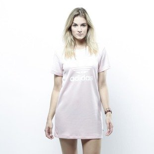 Adidas Originals sukienka Trefoil Tee Dress icey pink BP9420
