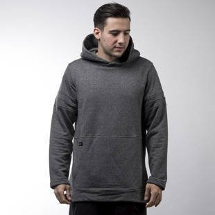 Admirable bluza sweatshirt Straped hoody heather grey
