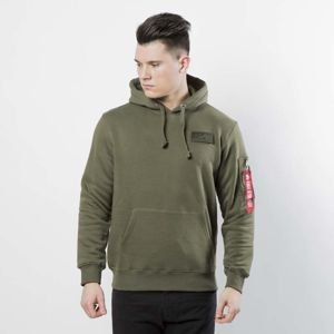 Alpha Industries bluza Red Stripe Hoody dark green 178314/257