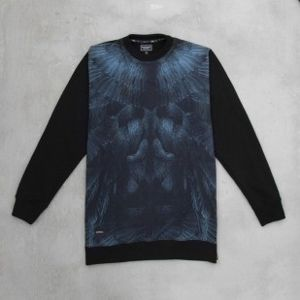 Backyard Cartel bluza Raven crewneck long fit black Illustrated
