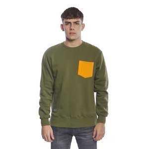 Backyard Cartel bluza sweatshirt Court crewneck khaki