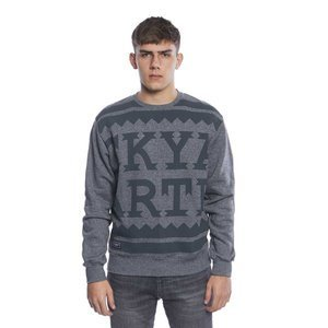 Backyard Cartel bluza sweatshirt Damn crewneck grey heather