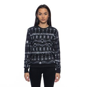 Backyard Cartel bluza sweatshirt Franklin crewneck black ILLUSTRATED