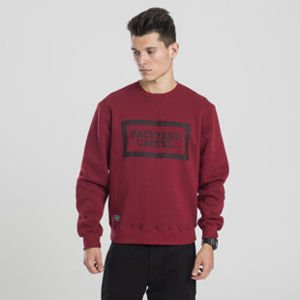 Backyard Cartel bluza sweatshirt Label Logo crewneck claret
