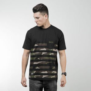 Backyard Cartel koszulka t-shirt Half Stripes Woodland Pocket black