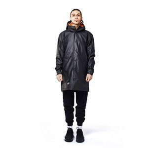 Backyard Cartel kurtka Shelter Coat long fit waxed black SS2017