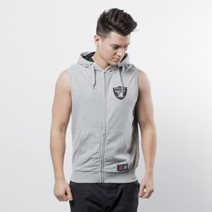 Bezrękawnik Majestic Athletic Oakland Raiders Manial Sleeveless Hoody grey heather MOR1435E2
