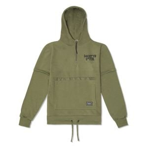 Bluza Backyard Cartel Background Hoody Half Zip khaki