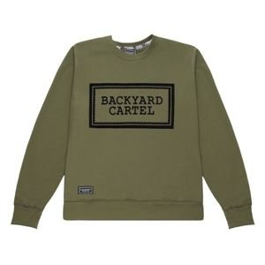 Bluza Backyard Cartel Crewneck Label Logo khaki