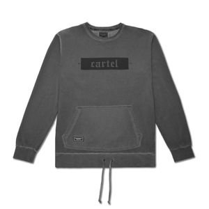 Bluza Backyard Cartel Crewneck Palm washed grey FW2017