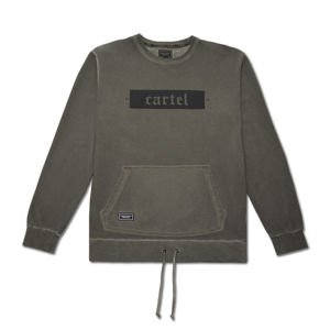 Bluza Backyard Cartel Crewneck Palm washed khaki FW2017