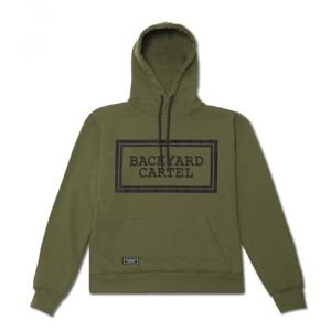 Bluza Backyard Cartel Hoody Label Logo khaki