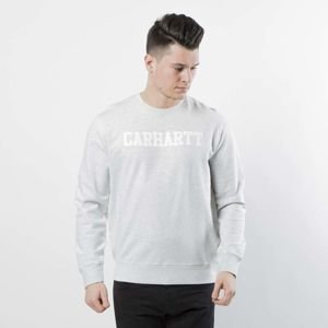 Bluza Carhartt WIP College Sweat ash heather / white I024668