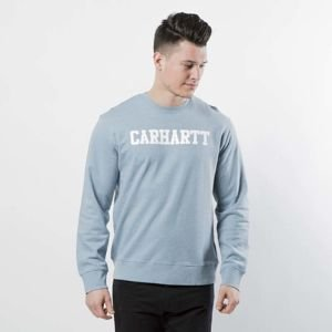 Bluza Carhartt WIP College Sweat dusty blue heather / white I024668