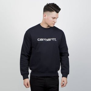 Bluza Carhartt WIP Crewneck Carhartt Sweat dark navy / white