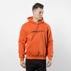 Bluza Carhartt WIP Hooded Carhartt Sweat persimmon / black
