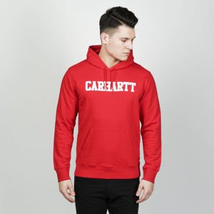 Bluza Carhartt WIP Hooded College Sweat cardinal / white