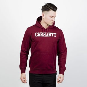 Bluza Carhartt WIP Hooded College Sweat cranberry / white