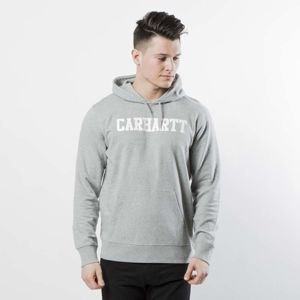 Bluza Carhartt WIP Hooded College Sweat grey heather / white I024669