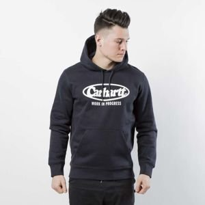 Bluza Carhartt WIP Hooded Oval Sweat dark navy / white I024695-5