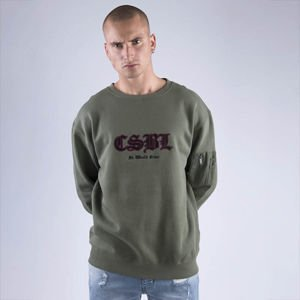 Bluza Cayler & Sons BLACK LABEL Sweatshirt CSBL Arise Crewneck olive / black