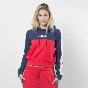 Bluza Damska Fila Women Wenda Hooded Sweat bright white-true red-black iris