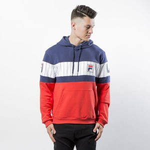 Bluza Fila Nick PRT Hooded Sweat black iris-pin stripe-high risk red