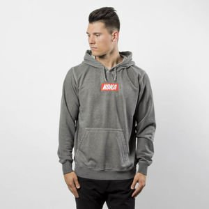 Bluza Koka Sweatshirt Hoodie Mini Box Logo Prewashed grey