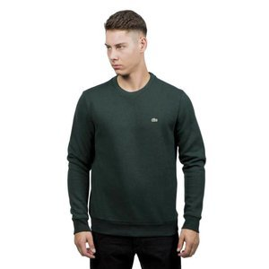 Bluza Lacoste Men's Neck Brushed Sweatshirt forest green