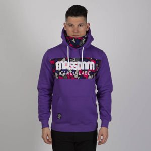 Bluza Mass Denim Sweatshirt Camo Stripe Hoody purple camo