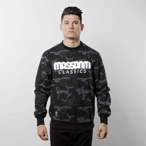Bluza Mass Denim Sweatshirt Crewneck Classics black camo