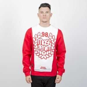 Bluza Mass Denim Sweatshirt Crewneck False Start red / white