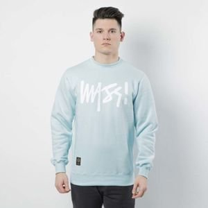 Bluza Mass Denim Sweatshirt Crewneck Signature light blue