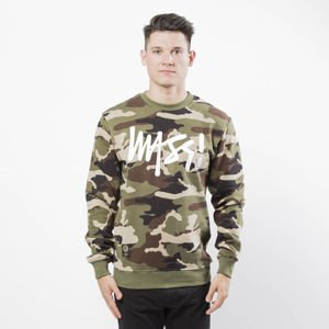 Bluza Mass Denim Sweatshirt Crewneck Signature woodland camo