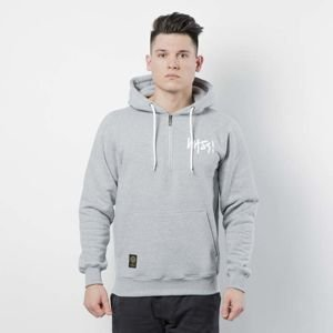 Bluza Mass Denim Sweatshirt Hoody Half Zip Signature light heather grey