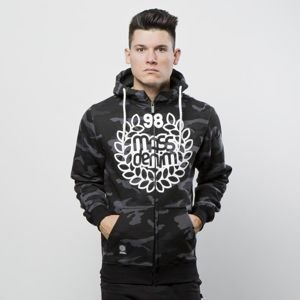 Bluza Mass Denim Sweatshirt Hoody Zip Base black camo