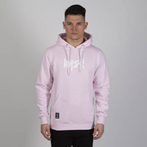 Bluza Mass Denim Sweatshirt Signature Medium Logo Hoody light pink