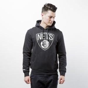 Bluza Mitchell & Ness Brooklyn Nets black Team Logo Pullover Hoody