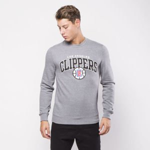 Bluza Mitchell & Ness Los Angeles Clippers Crewneck grey heather Team Arch