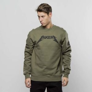 Bluza Mitchell & Ness Los Angeles Lakers Crewneck olive Rock Word Mark
