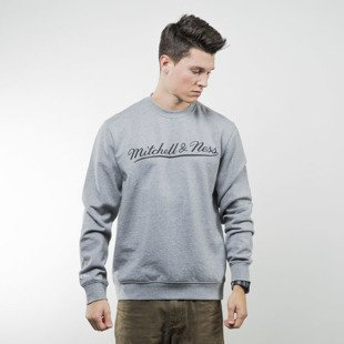 Bluza Mitchell & Ness sweatshirt Own Brand Crewneck grey / black M&N Script Logo