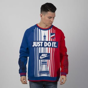 Bluza Nike NSW Crew Paris SSNL blue / white / red