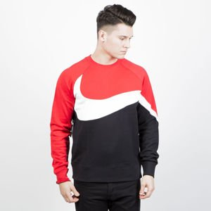 Bluza Nike NSW HBR Crewneck black / red (AR3088-010)