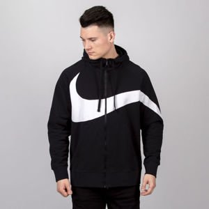 Bluza Nike NSW HBR Hoodie FZ FT STMT black / white
