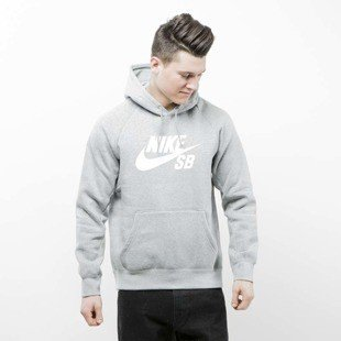 Bluza Nike SB Icon Hoodie dark grey heather / white 846886-063