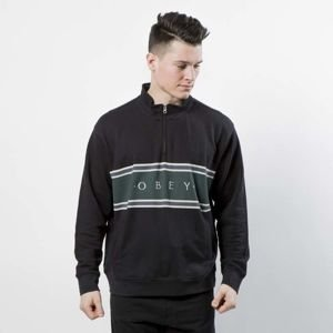 Bluza Obey Sweatshirt Palisade Mock Neck Zip black