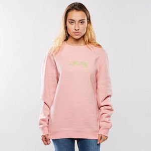 Bluza damska Stussy Smooth Stock APP. Crew dusty rose WMNS