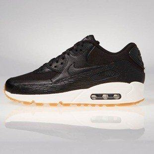 Buty sneakers Nike WMNS Air Max 90  Premium  Leather black / black-dark grey-ivory 904535-001