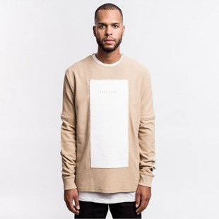 Cayler & Sons BLACK LABEL bluza sweatshirt Tres Slick Crewneck sand / white BL-CAY-AW16-AP-17-01