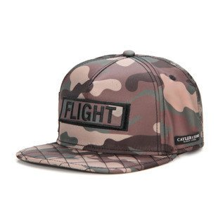 Cayler & Sons Black Label snapback czapka Flight Cap woodland / black / orange BL-CAY-AW16-02-02